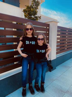 Crazy DI/OR póló fekete-baba 1.